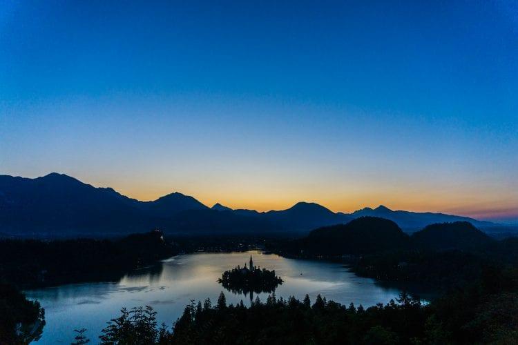 zonsopkomst in Bled