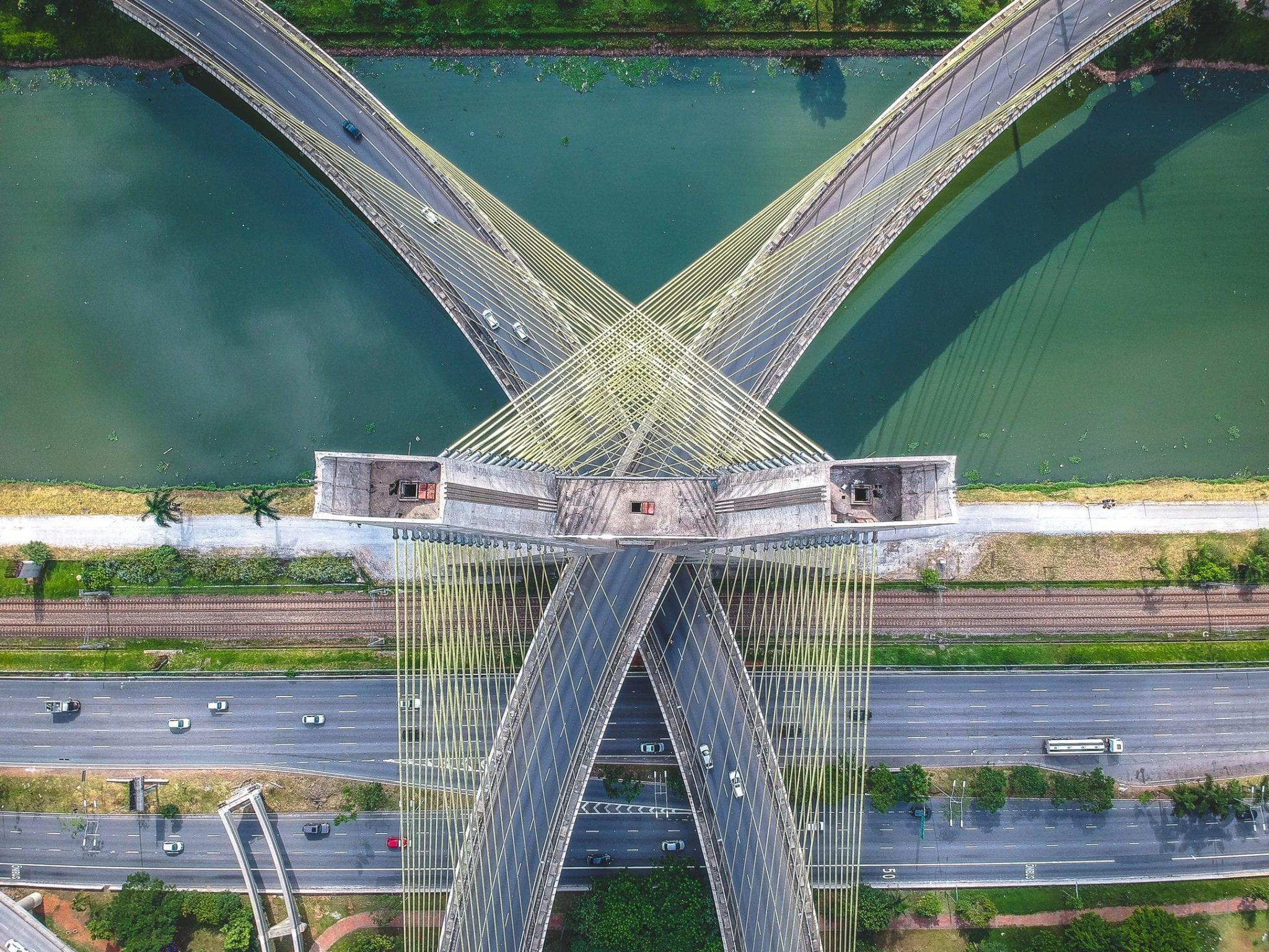 fotograferen met een drone brug