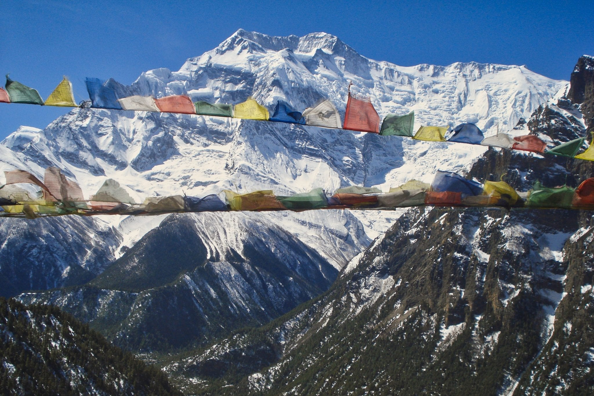 Hike voor het goede doel Nepalese vlaggen
