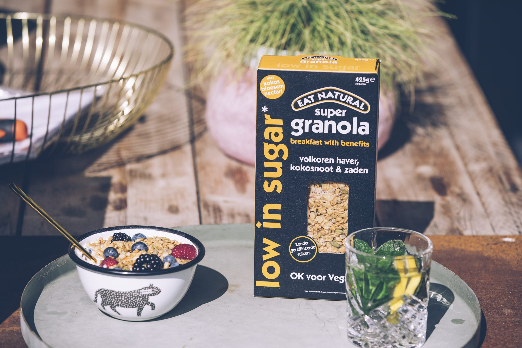 Eat Natural Low in Sugar Vegan Granola