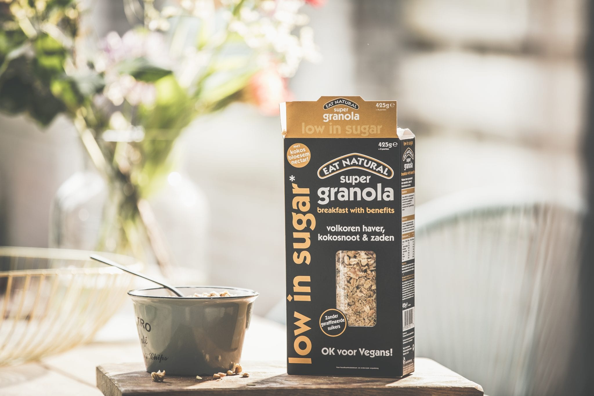 Eat Natural Low in Sugar Vegan Granola unbox