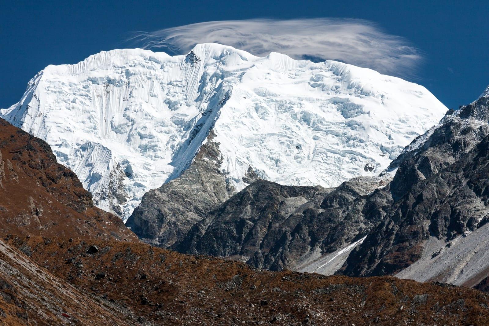 Mt. Shishapangma - hoogste bergen ter wereld