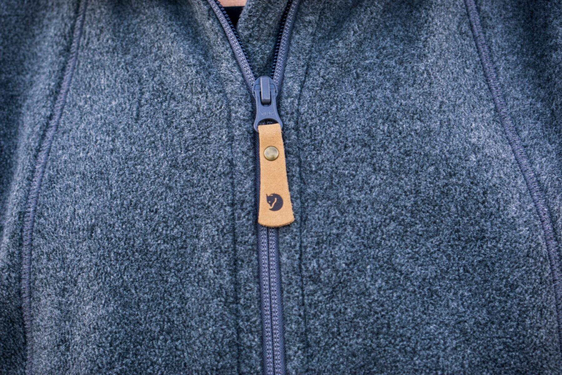 Fleece vest zip