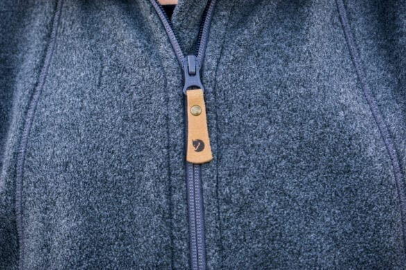 Fleece vest zip
