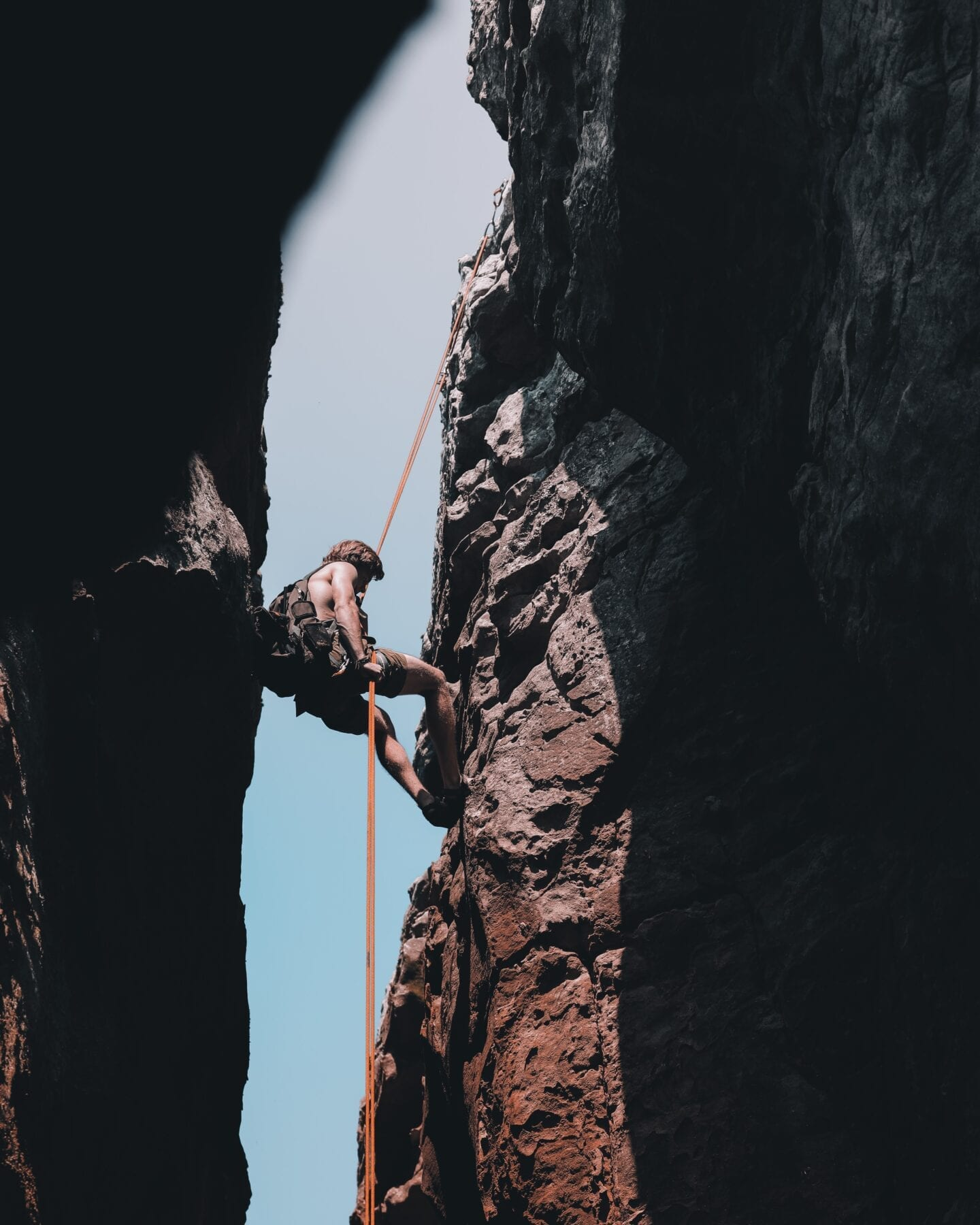 bergbeklimmen touwen