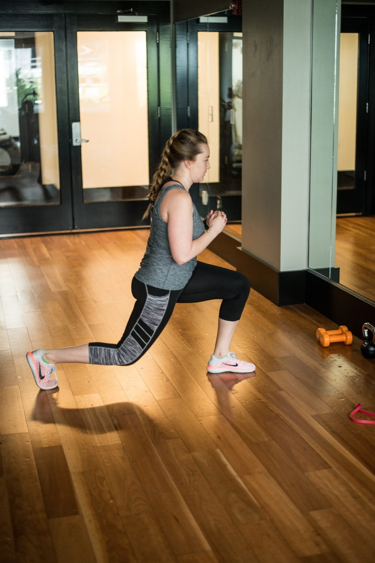 thuis fitness lunge