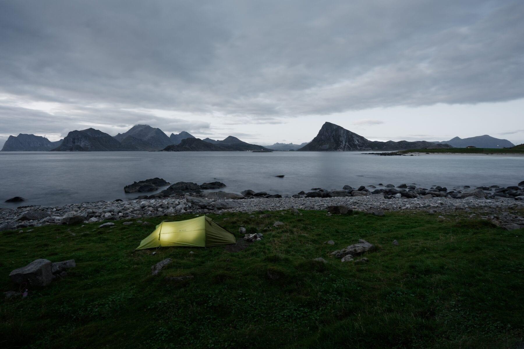 Allemansrecht wildkamperen Scandinavië