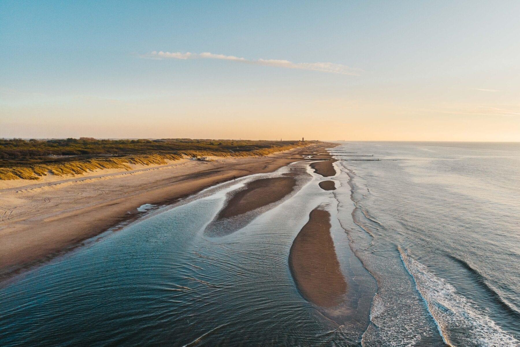 De Zeeuwse kust drone