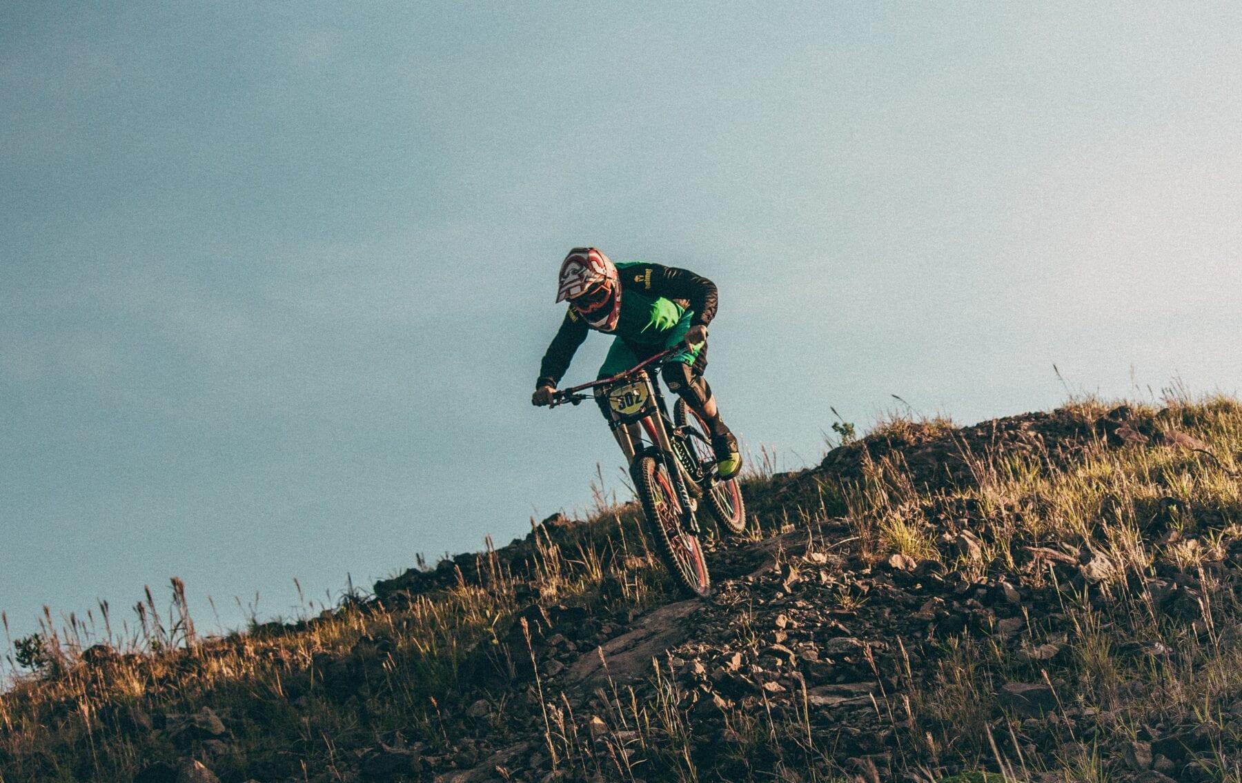 Extreme downhill mountainbike USA