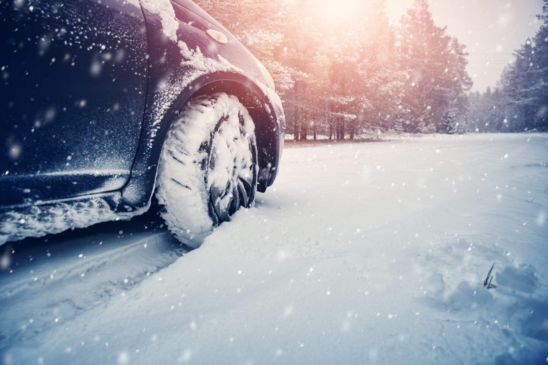 Winterbanden Met de auto op wintersport