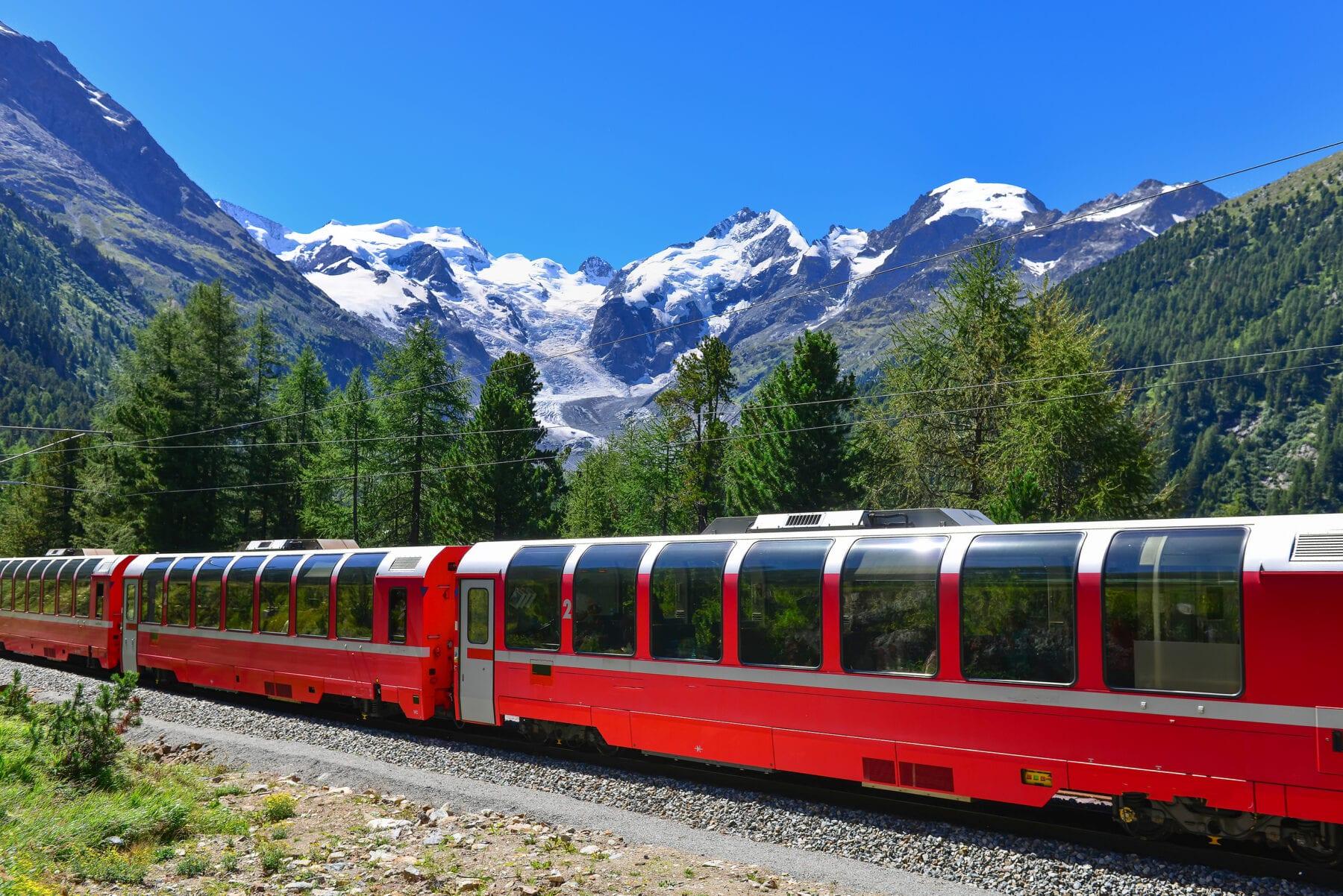 Mooiste treinreizen Europa Bernina Trein Zwitserland