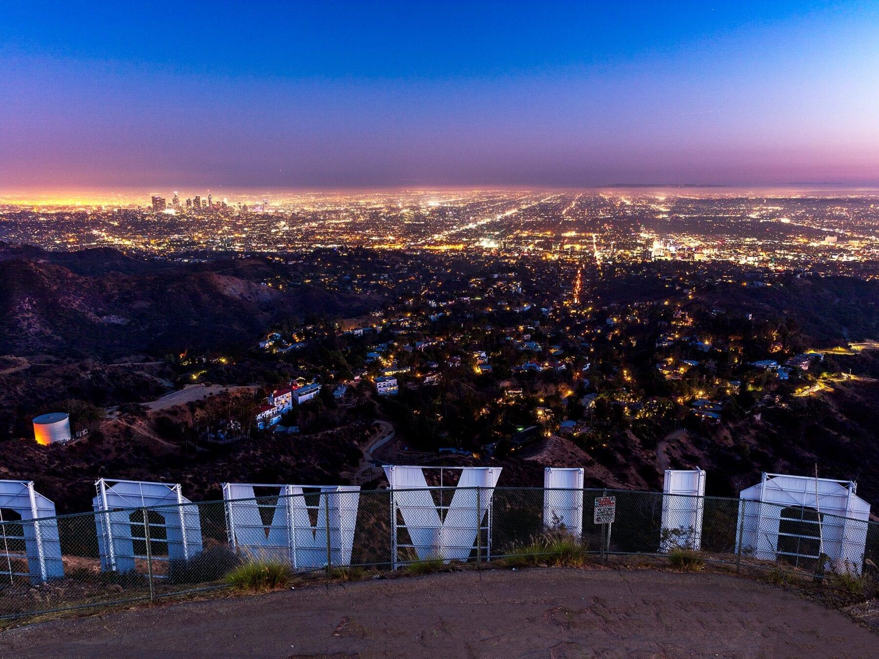 steden schoonste lucht ter wereld Hollywood