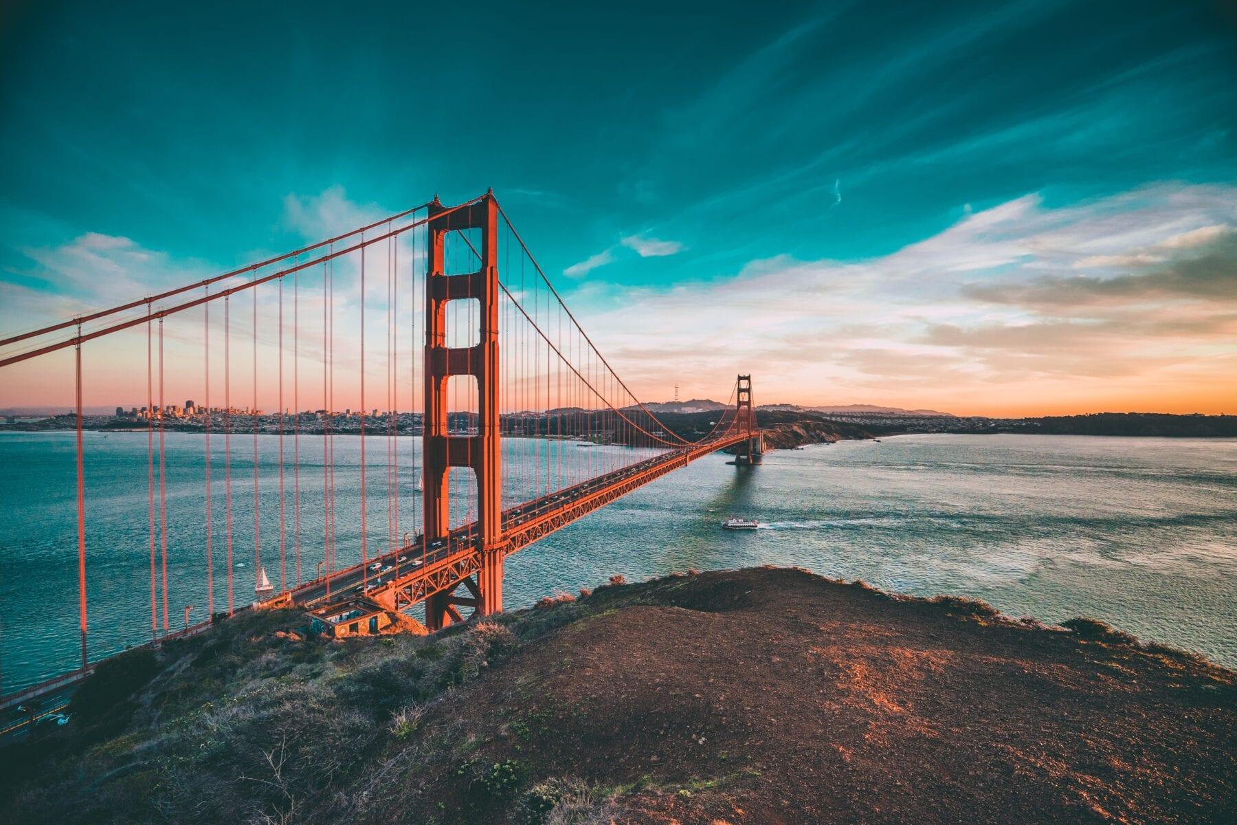 Golden Gate schone lucht Corona