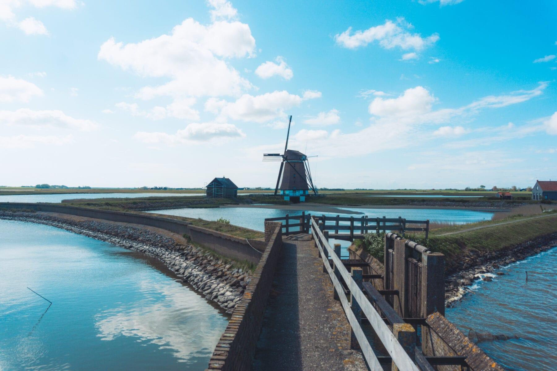 Vakantie naar Texel molen natuurmonumenten