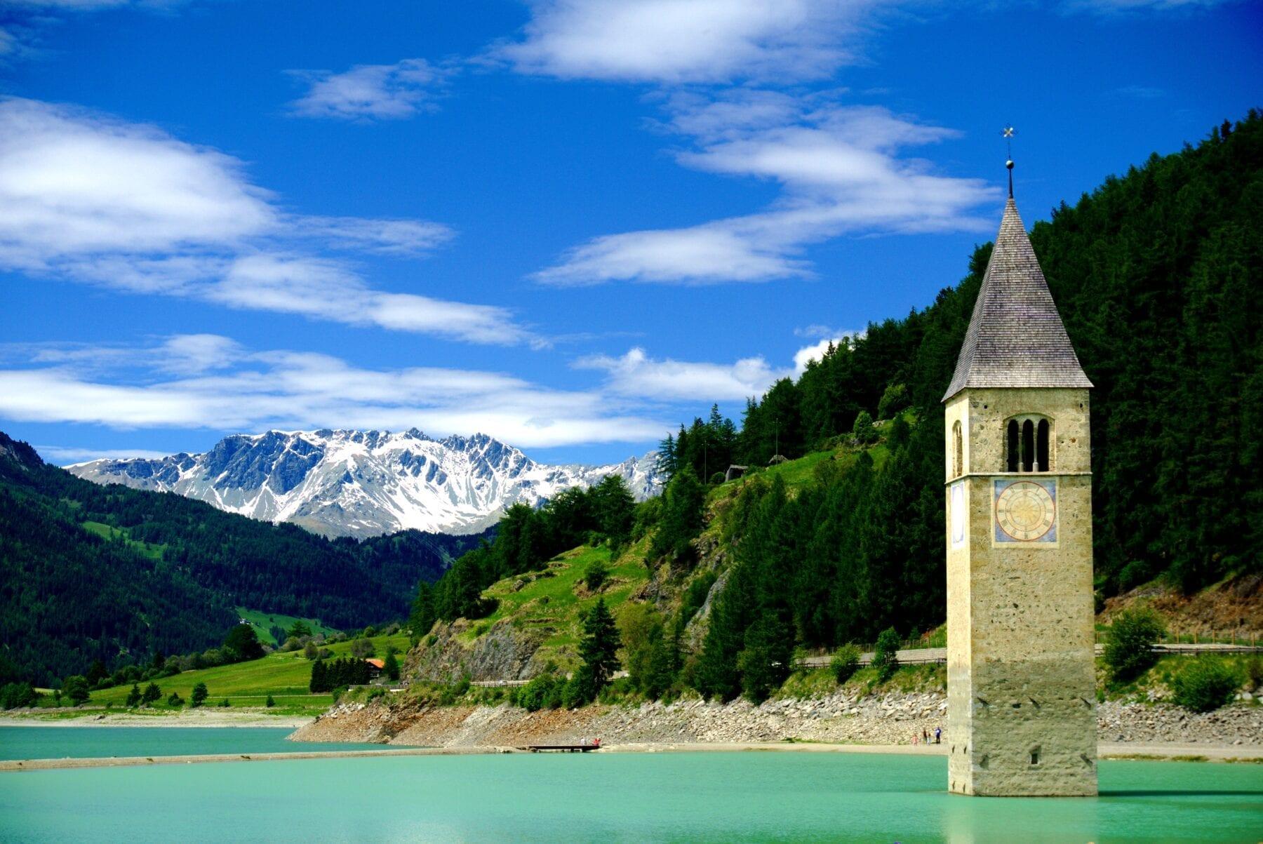 Meren in Zuid Tirol Reschensee