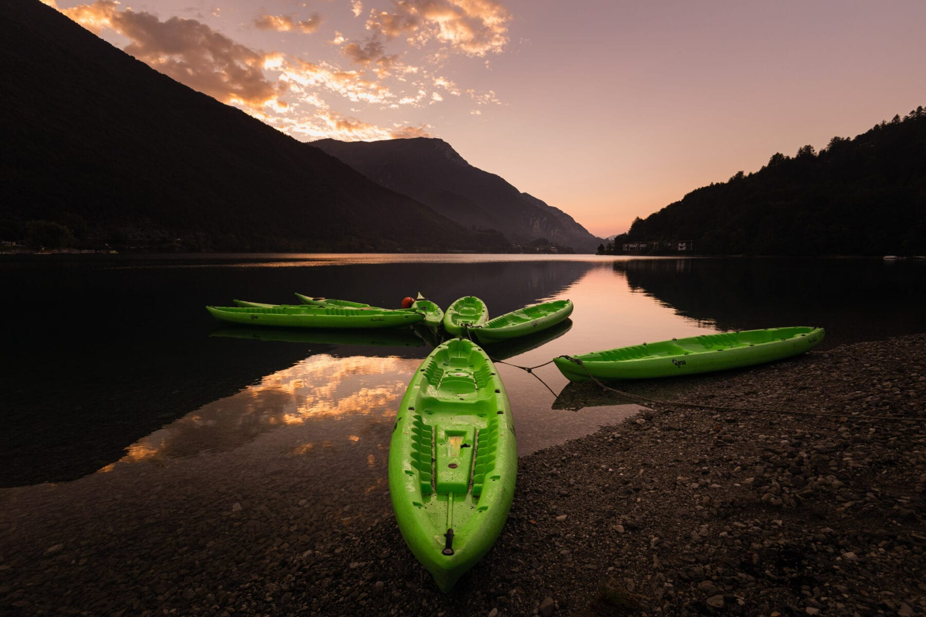 Mooiste meren van Trentino Ledromeer
