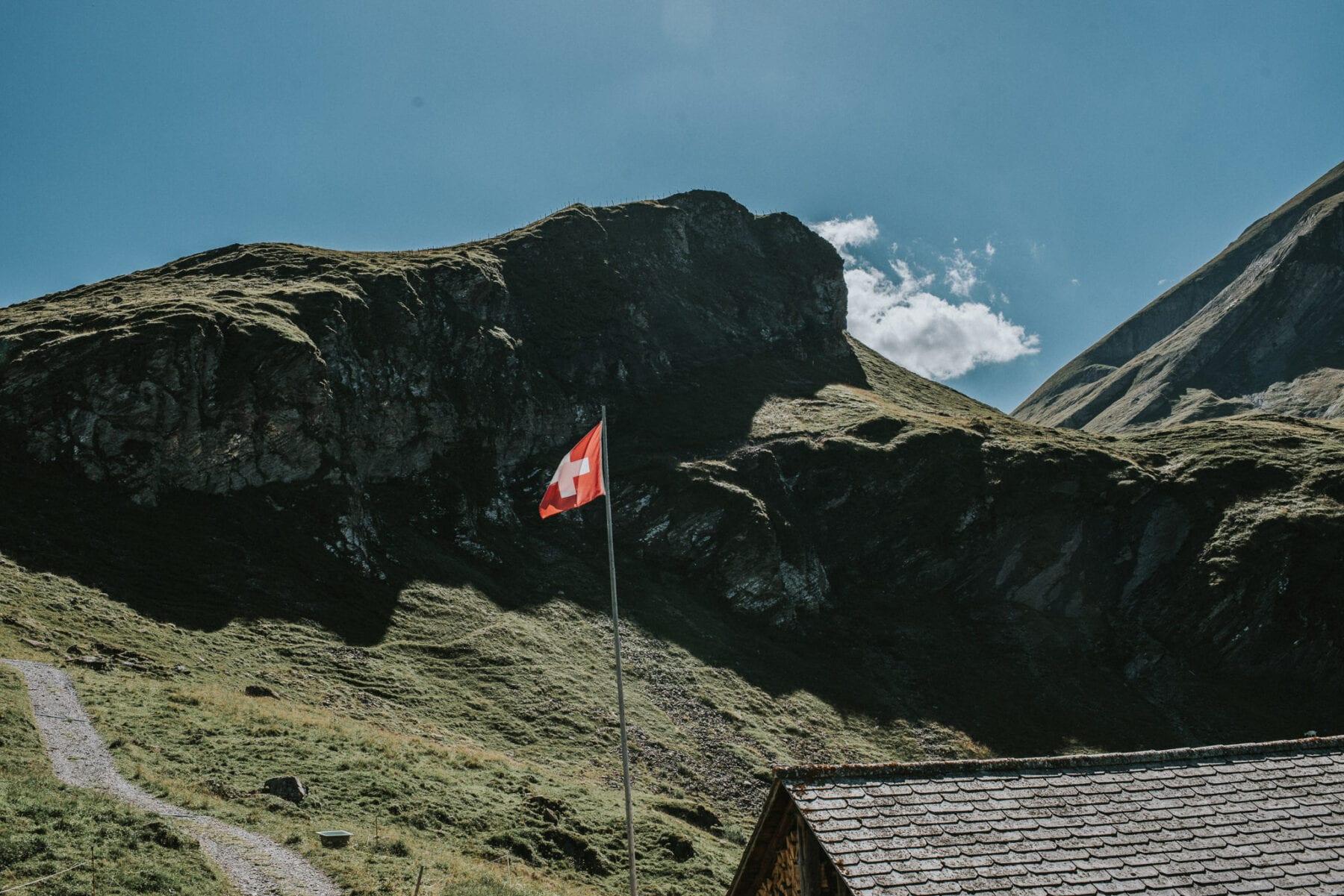 Engstligen waterval Zwitserland Adelboden Lunchplek