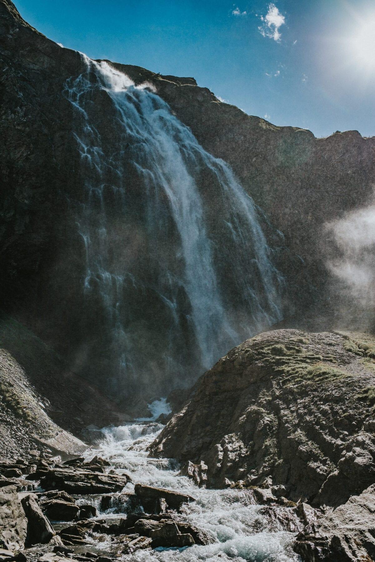 Engstligen waterval Zwitserland Adelboden Bern regio