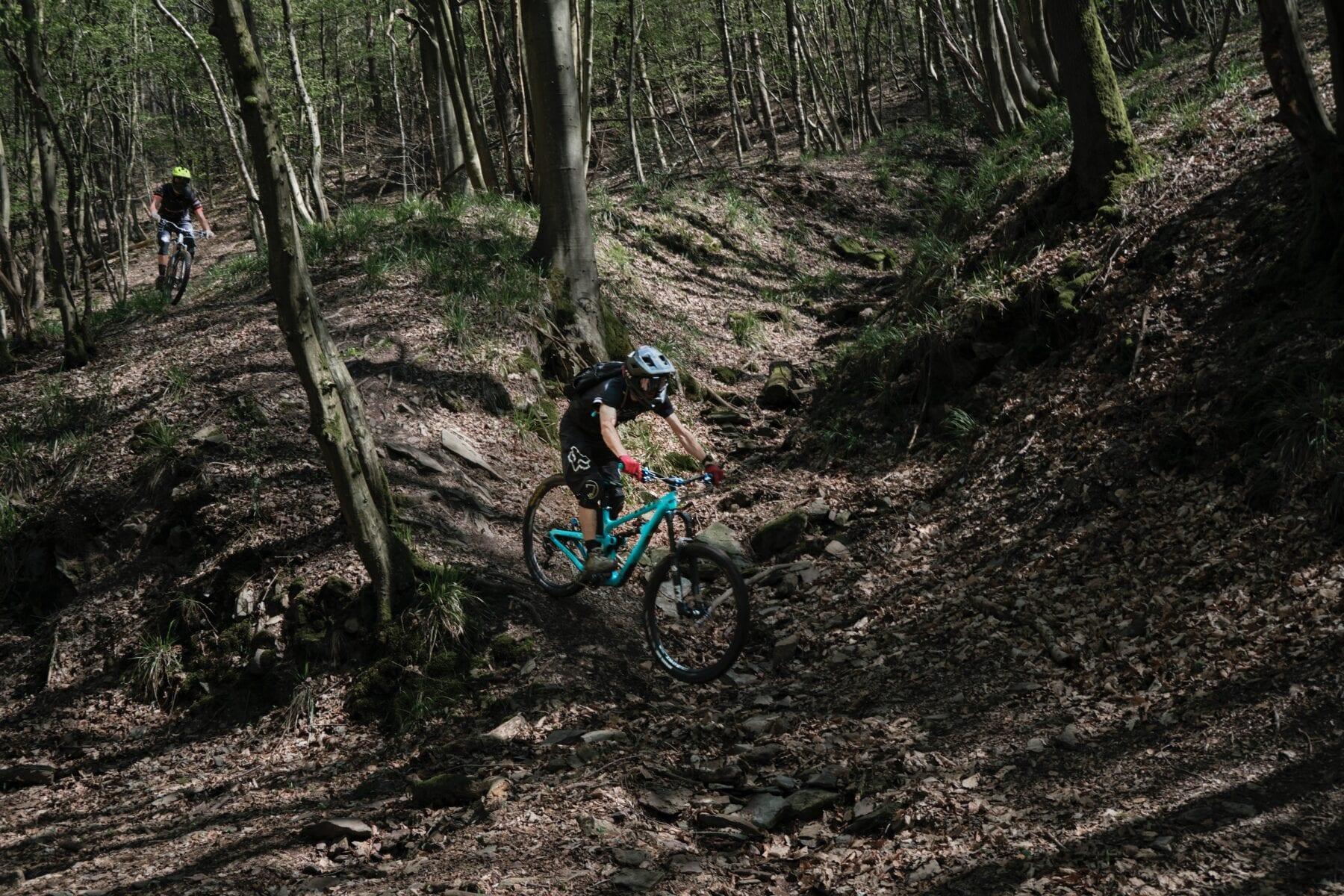 Beginnen met mountainbiken in het bos