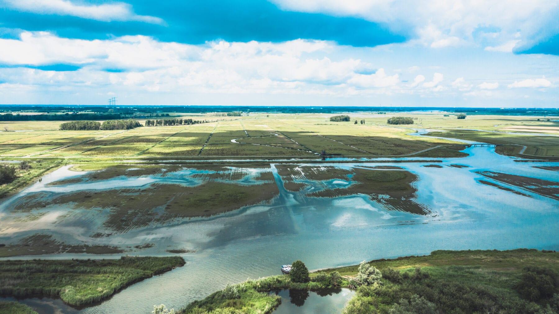 De Biesbosch luchtfoto