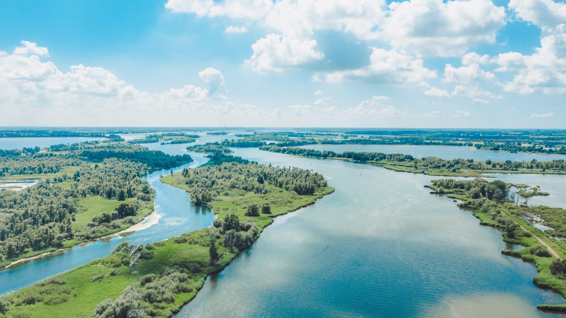 luchtfoto Biesbosch