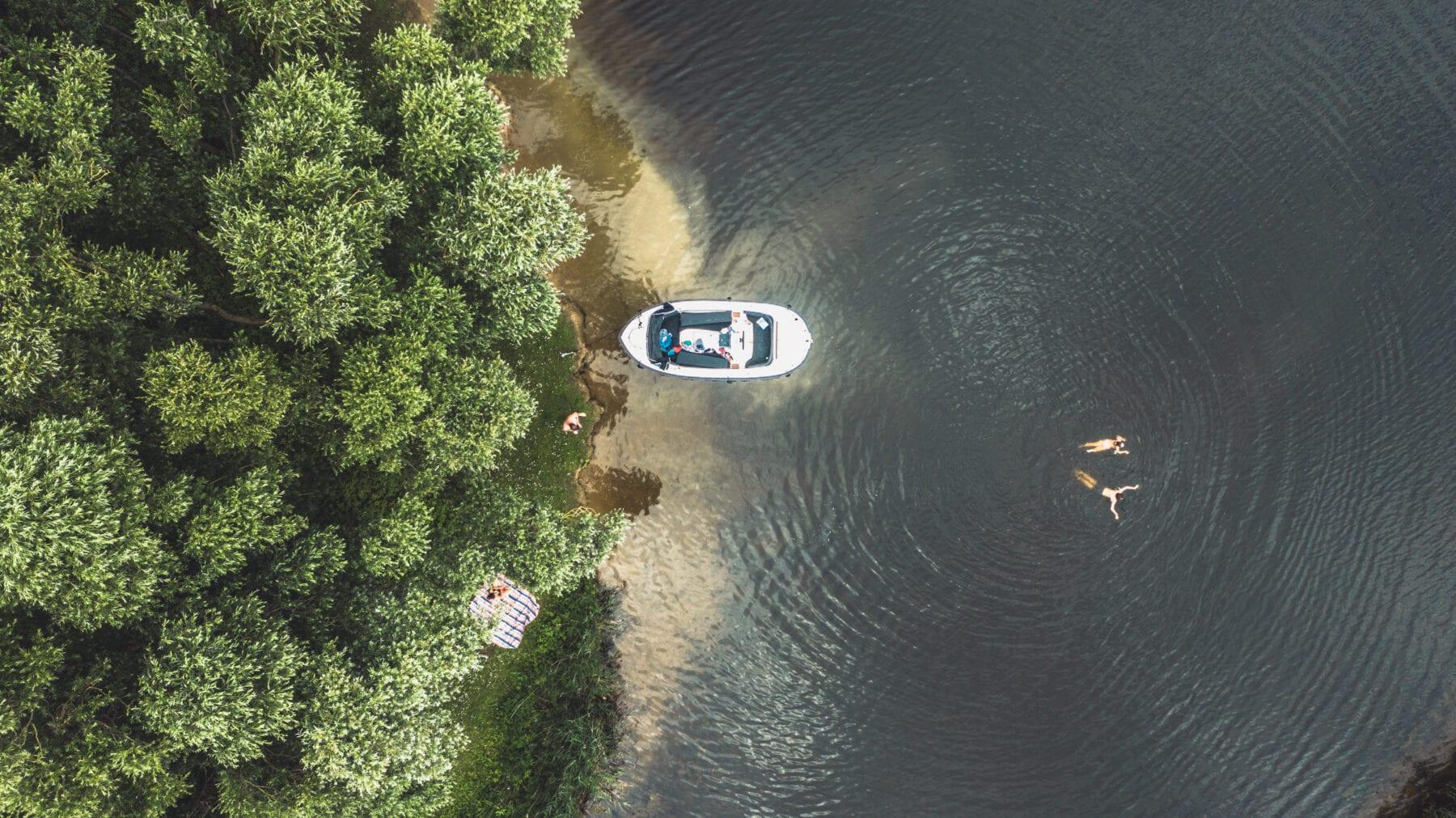 Biesbosch varen luchtfoto
