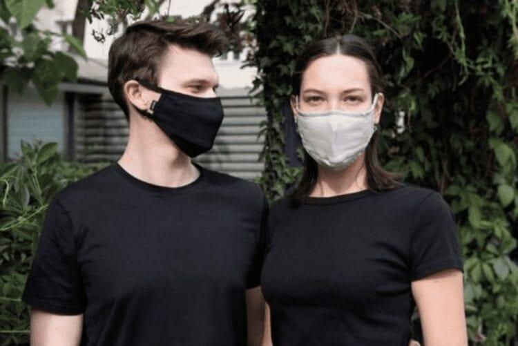 Cocoon mondmaskers van zijde en biologisch katoen
