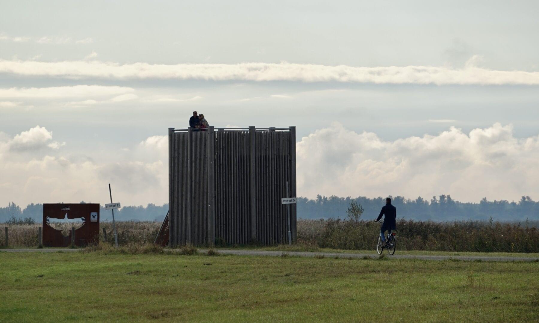 Fietsen Nationaal Park Lauwersmeer en uitkijktoren