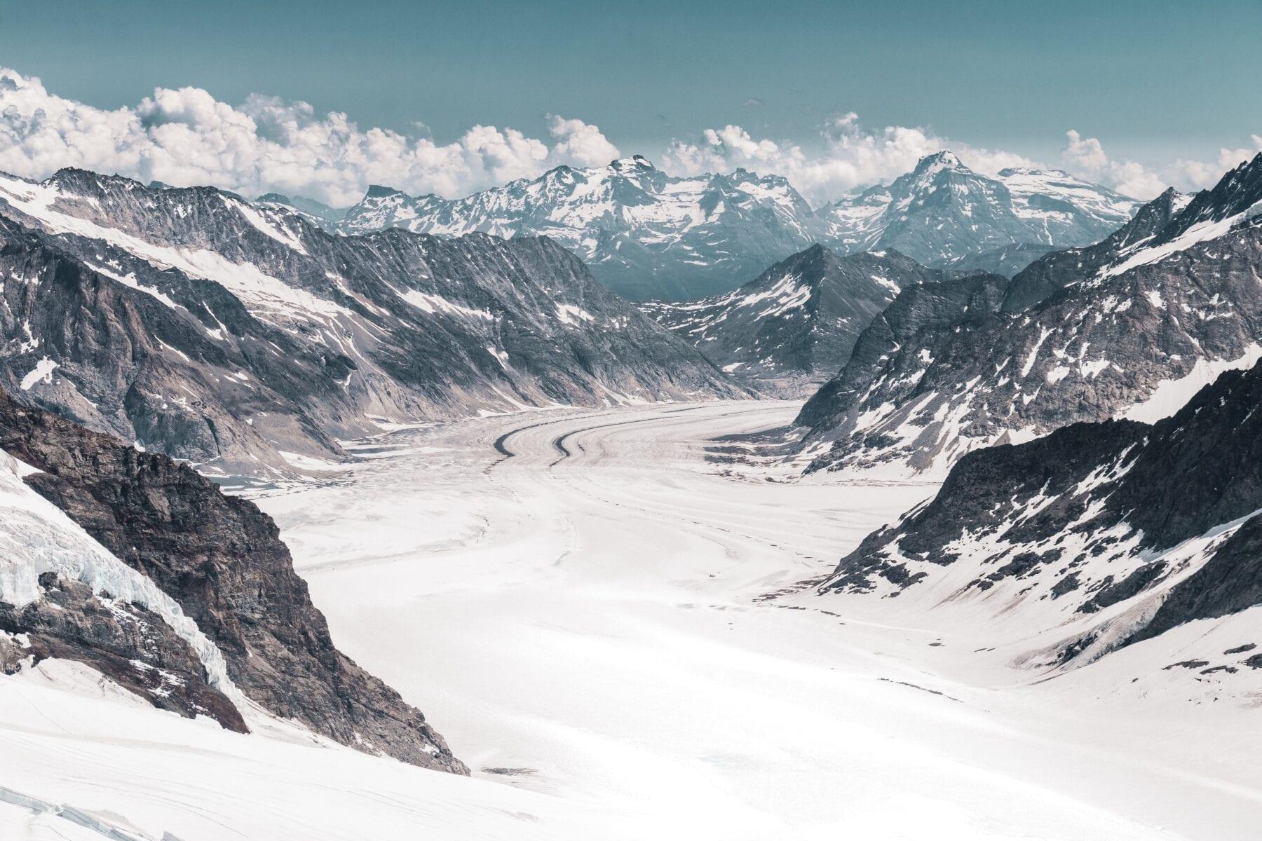De Aletsch Gletsjer hoort in het rijtje van mooiste gletsjers van Europa