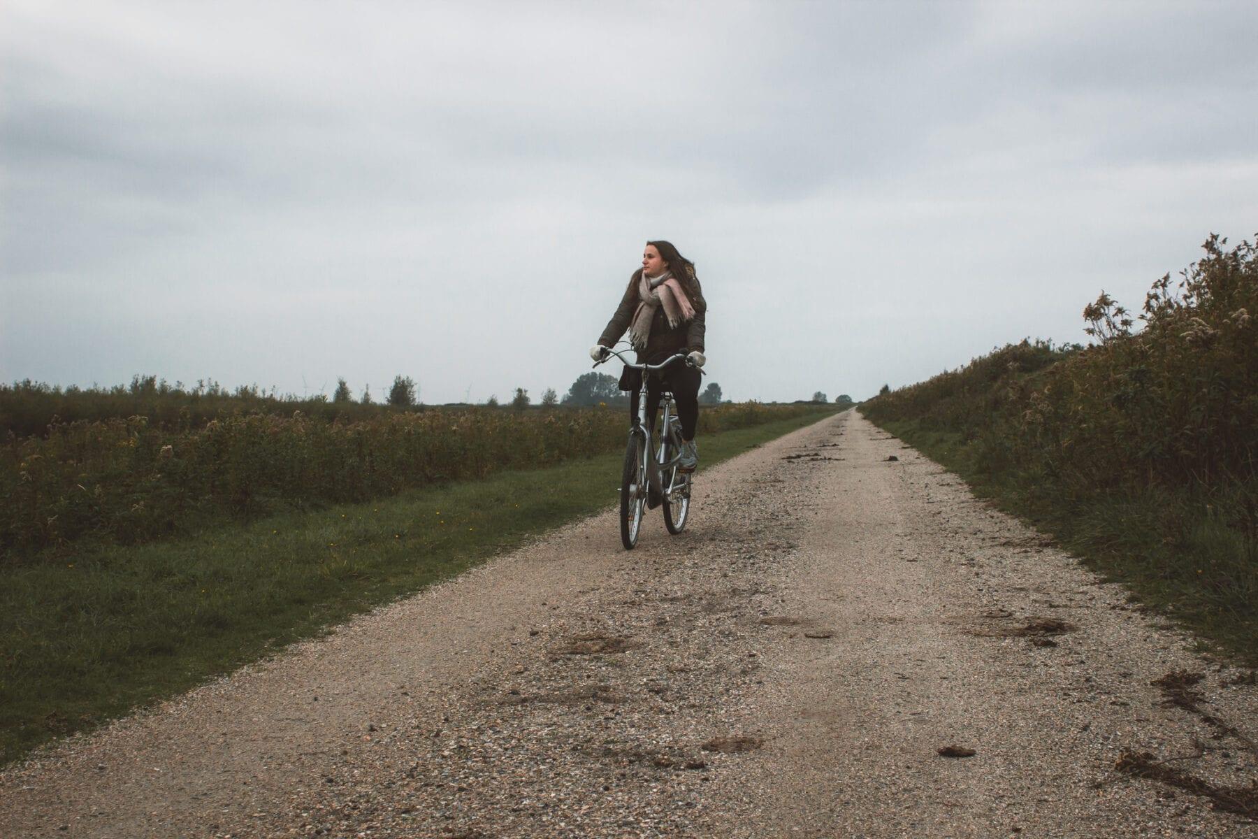 Tiengemeten fietsend