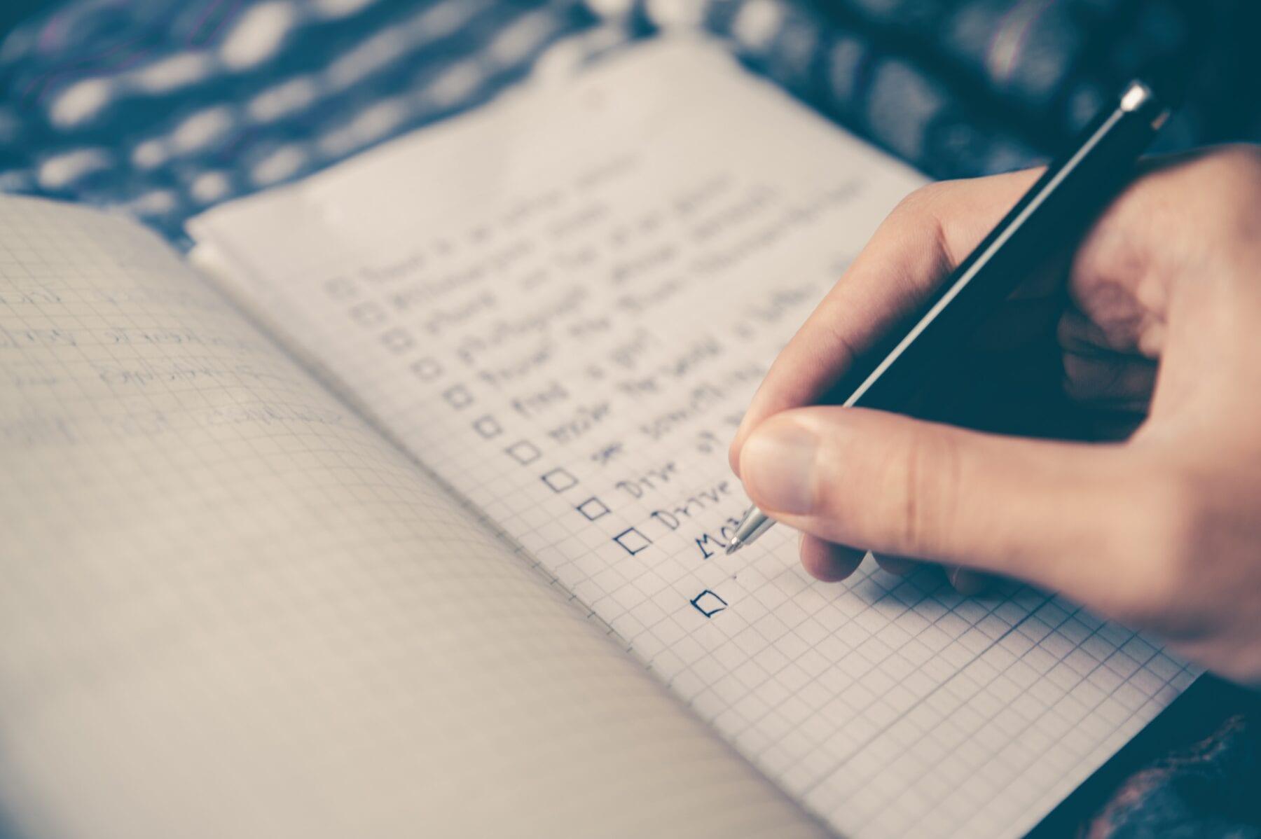 voorbereid op reis checklist