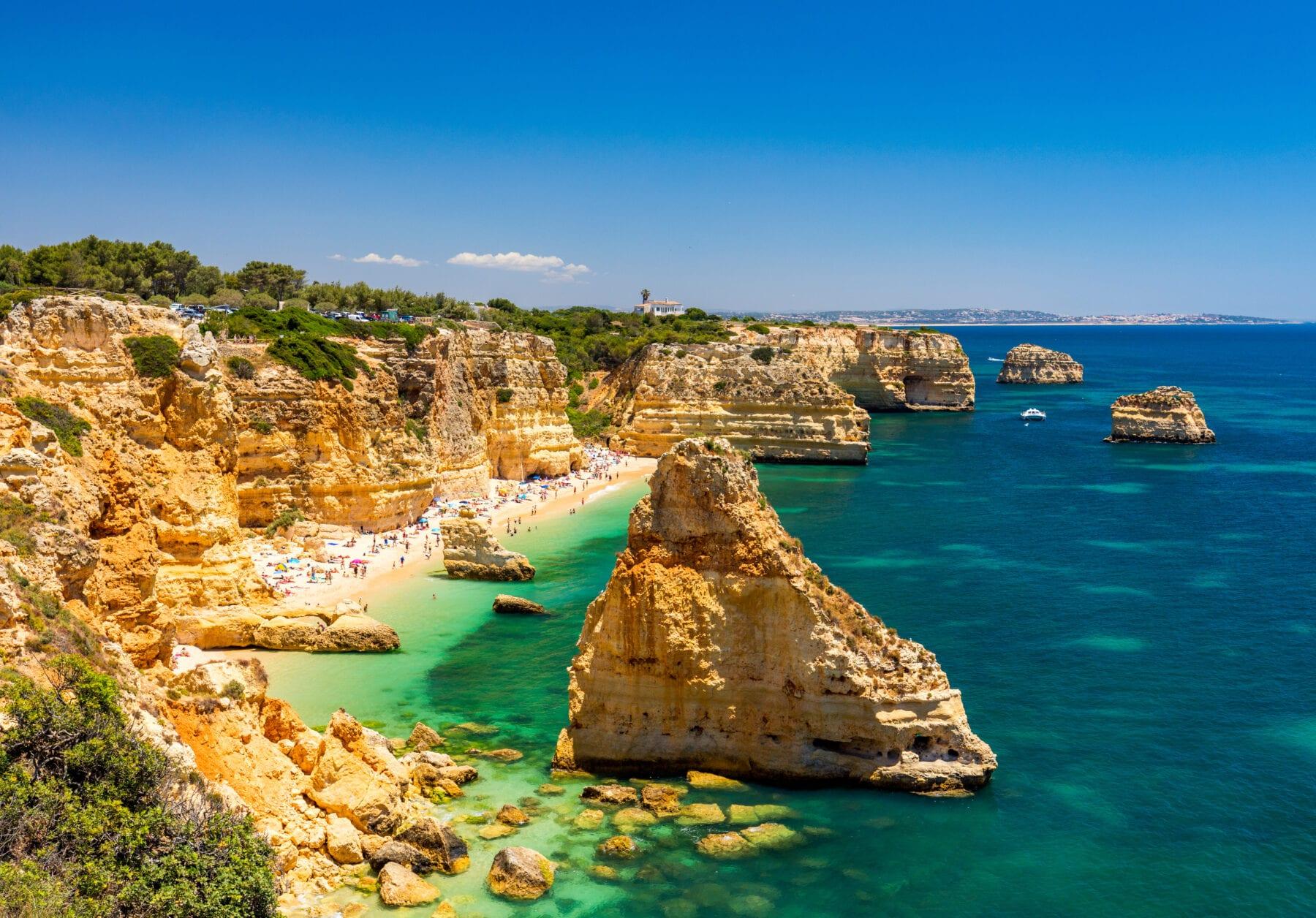 Stranden Algarve Marinha