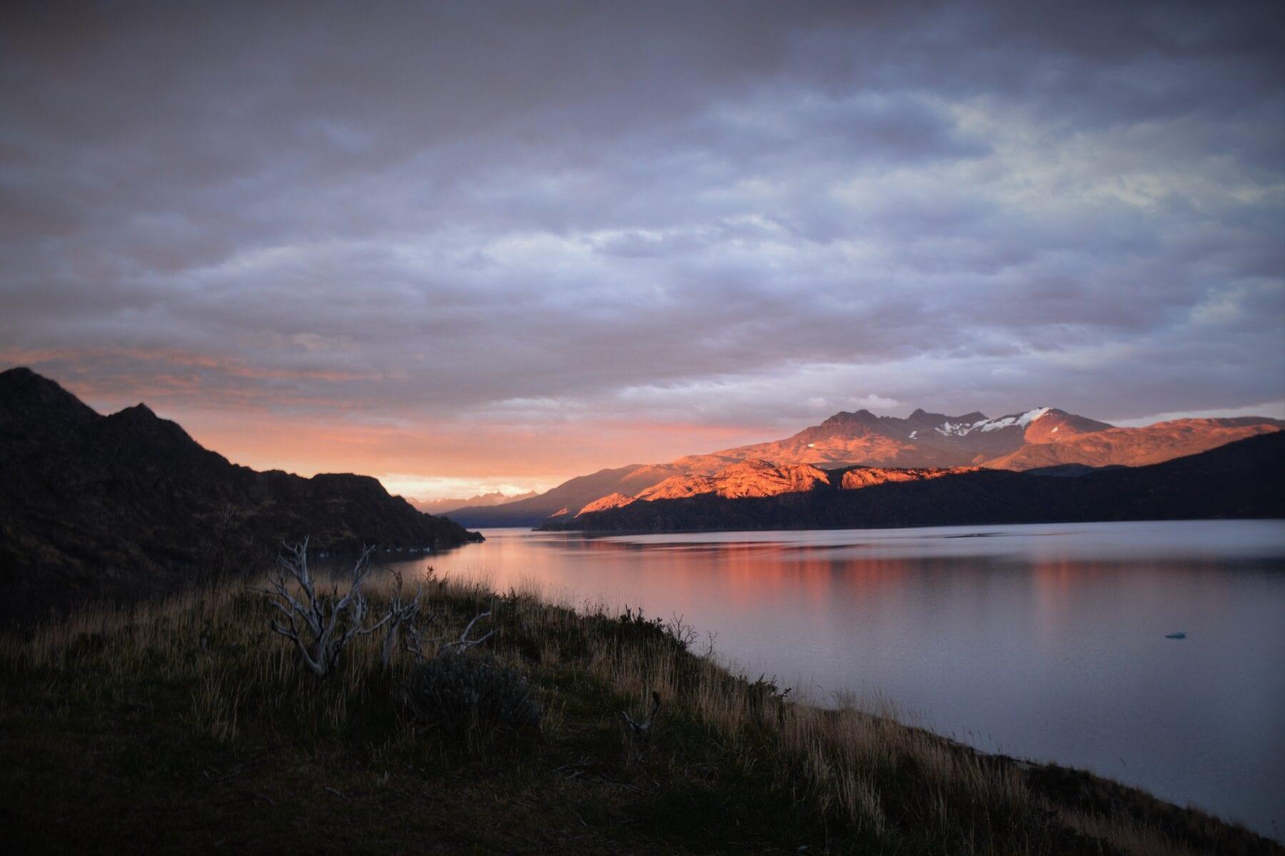 Patagonie zonsondergang