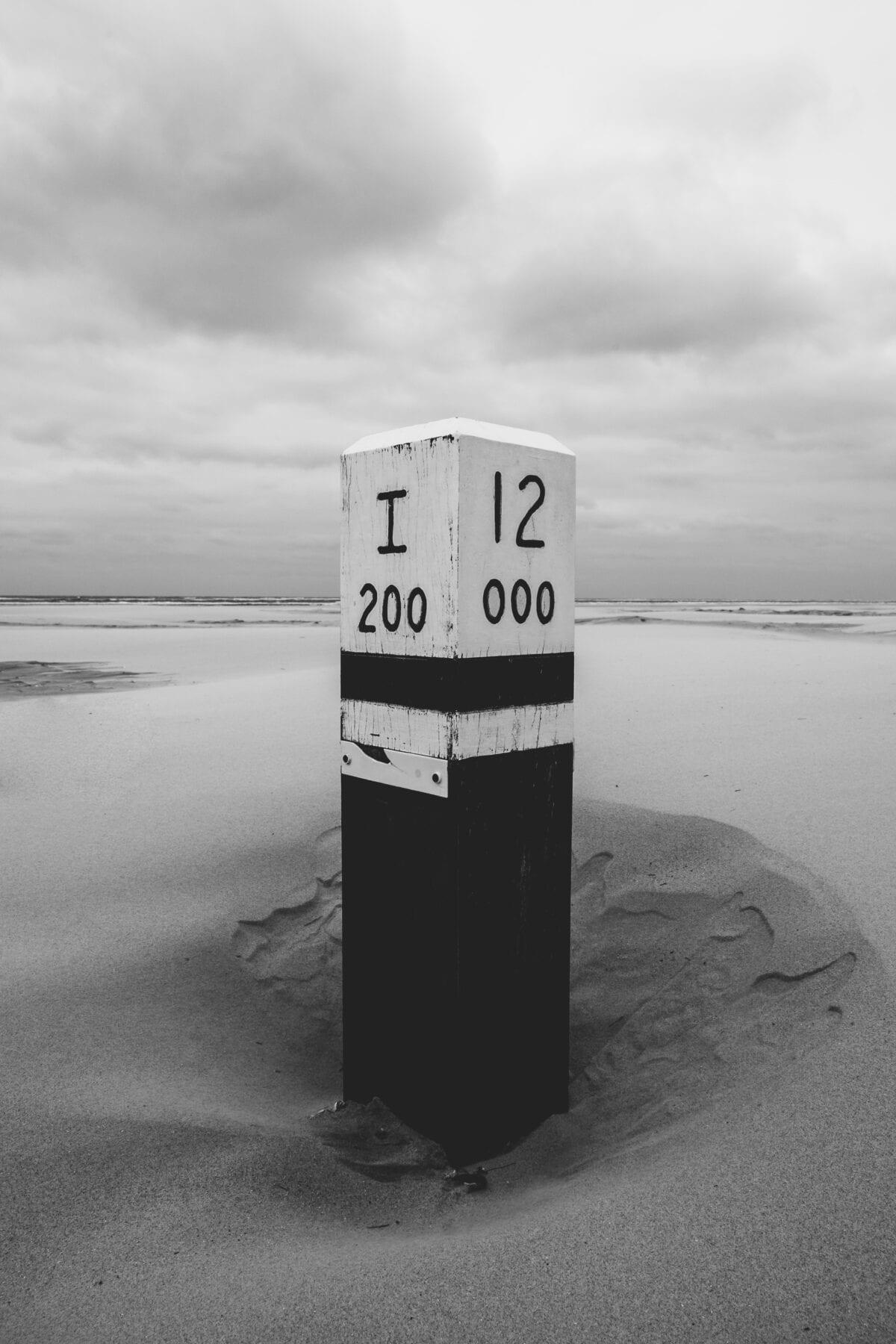 Het waddengebied strand