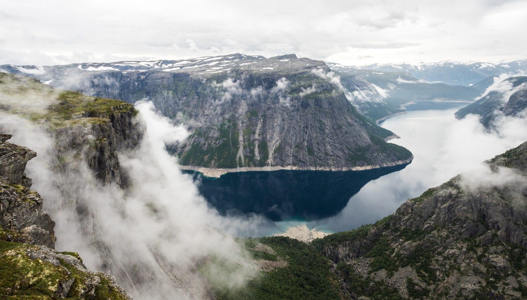 Trolltunga omgeving in Noorwegen