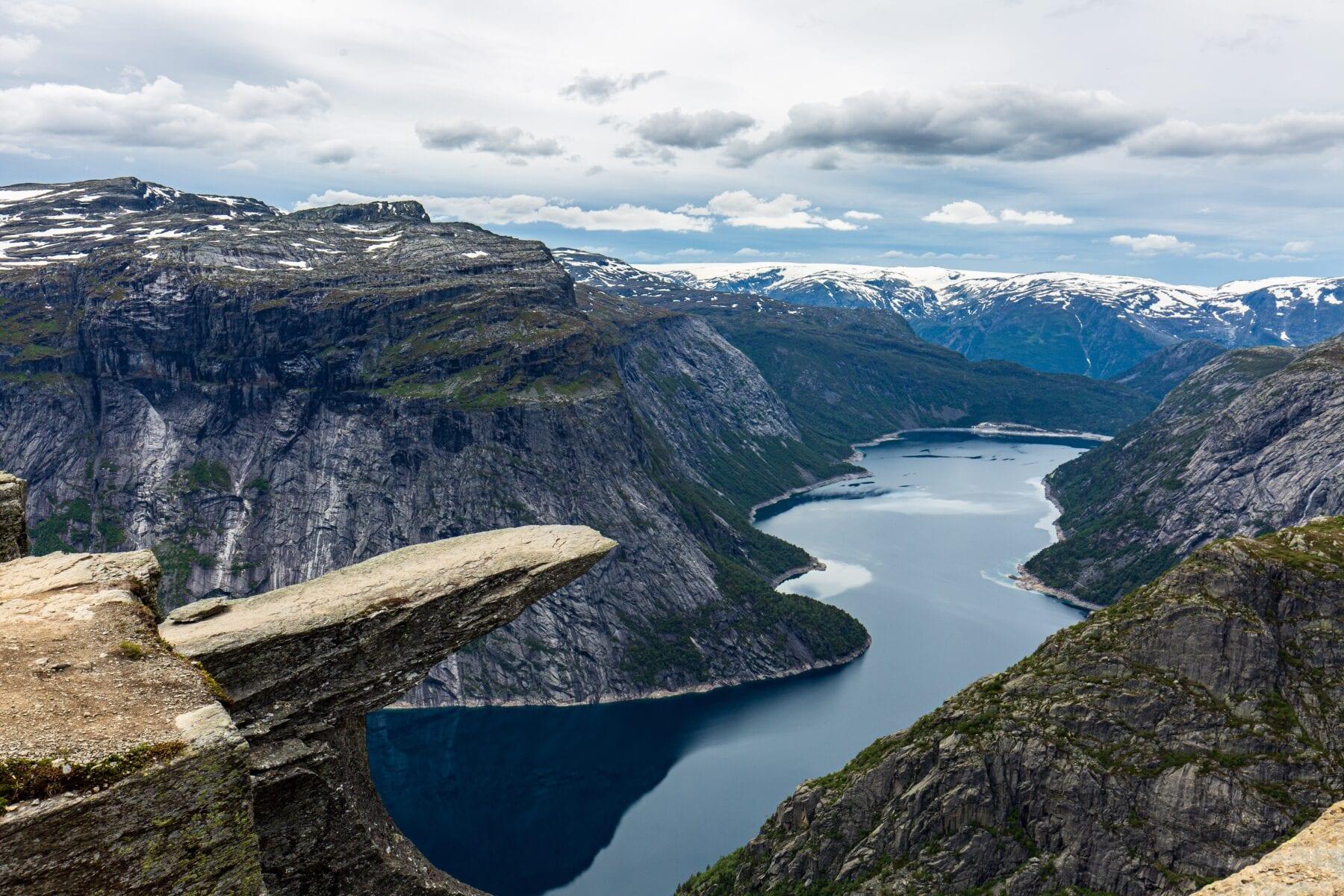 Trolltunga Noorwegen plateau