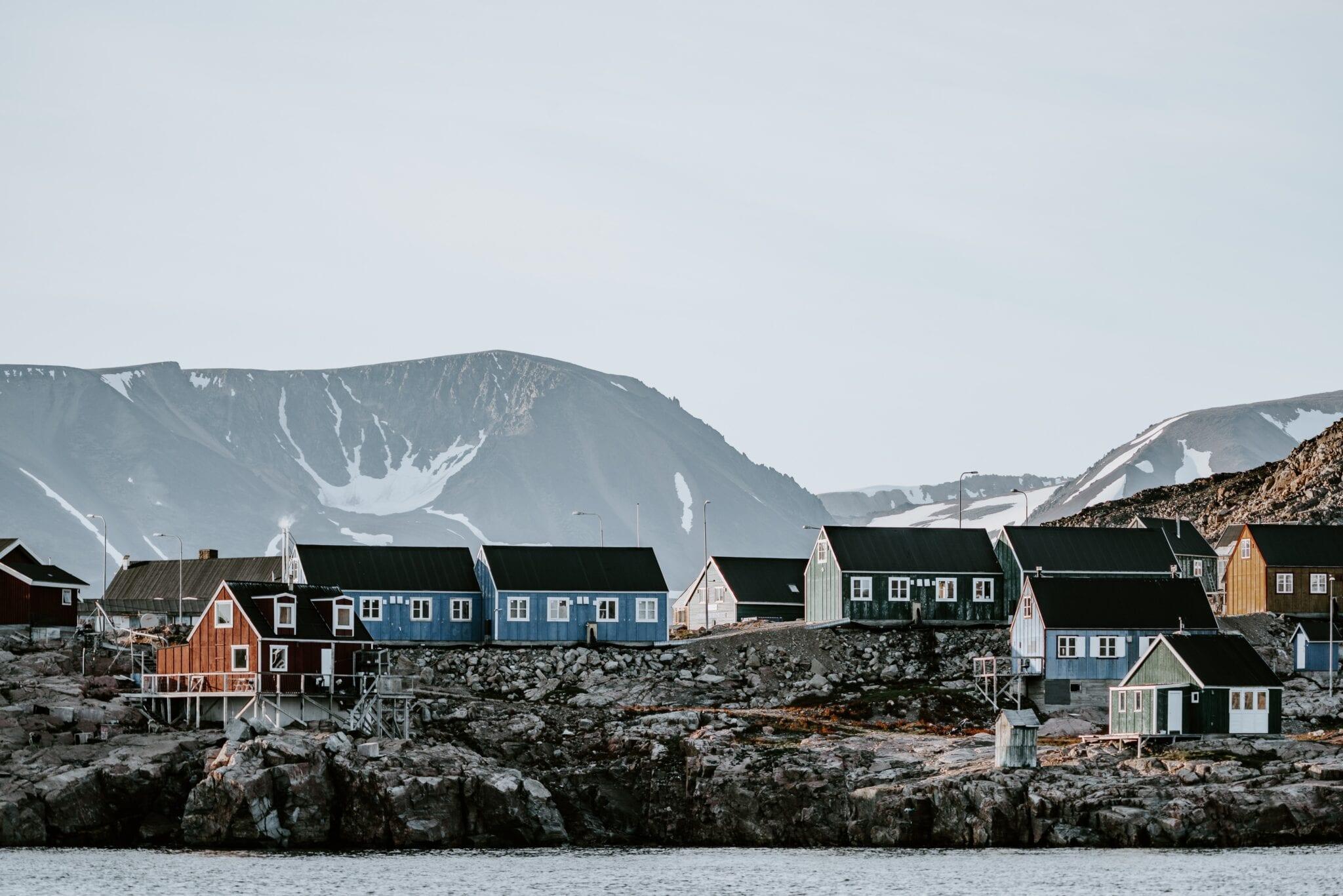 Groenland huizen en inwoners