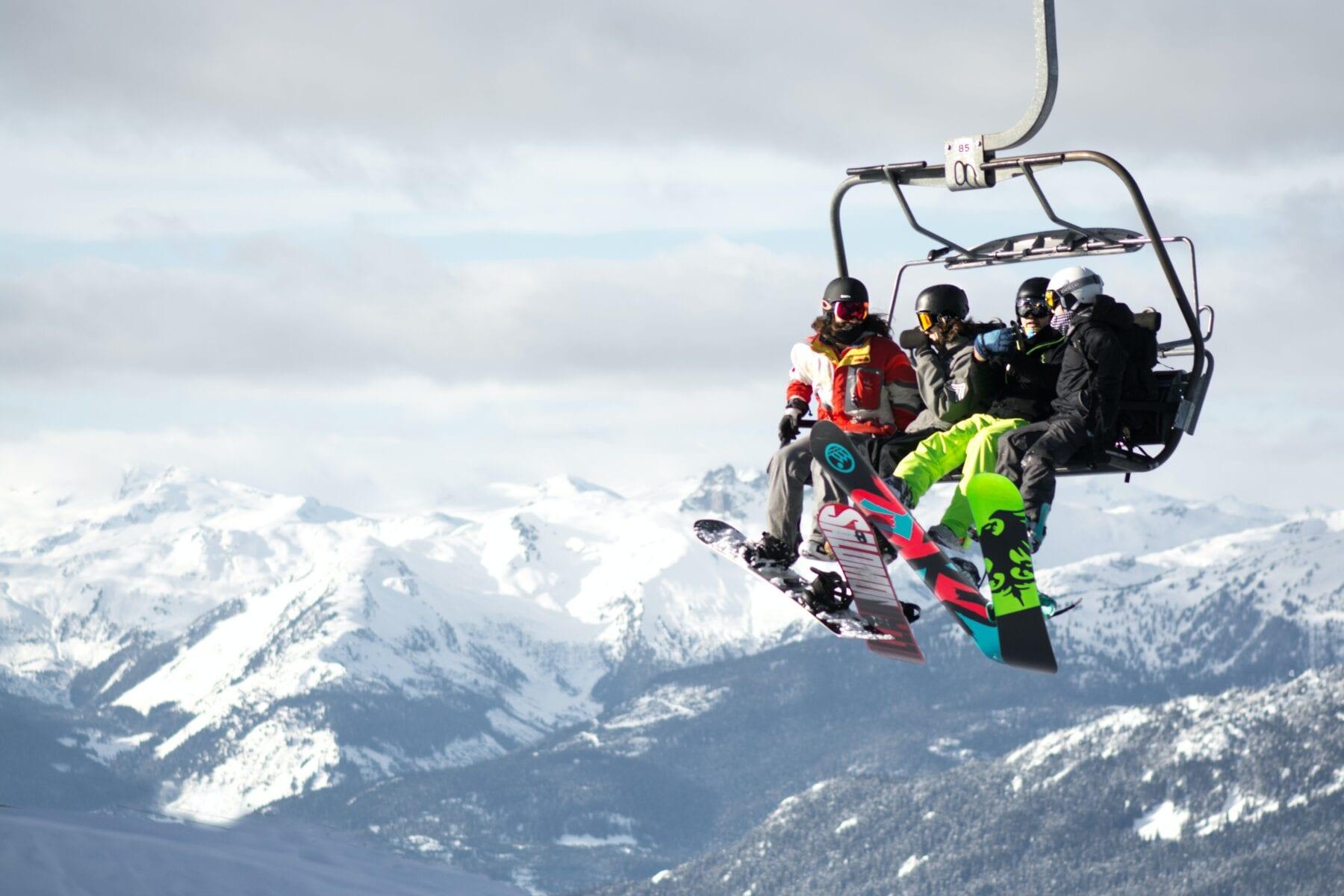 Salomon ode aan stoeltjeslift snowboarder