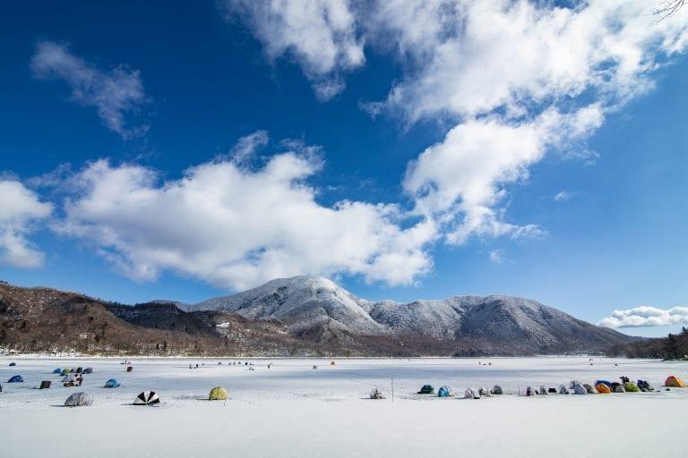 Nikko Japan ijsvissen