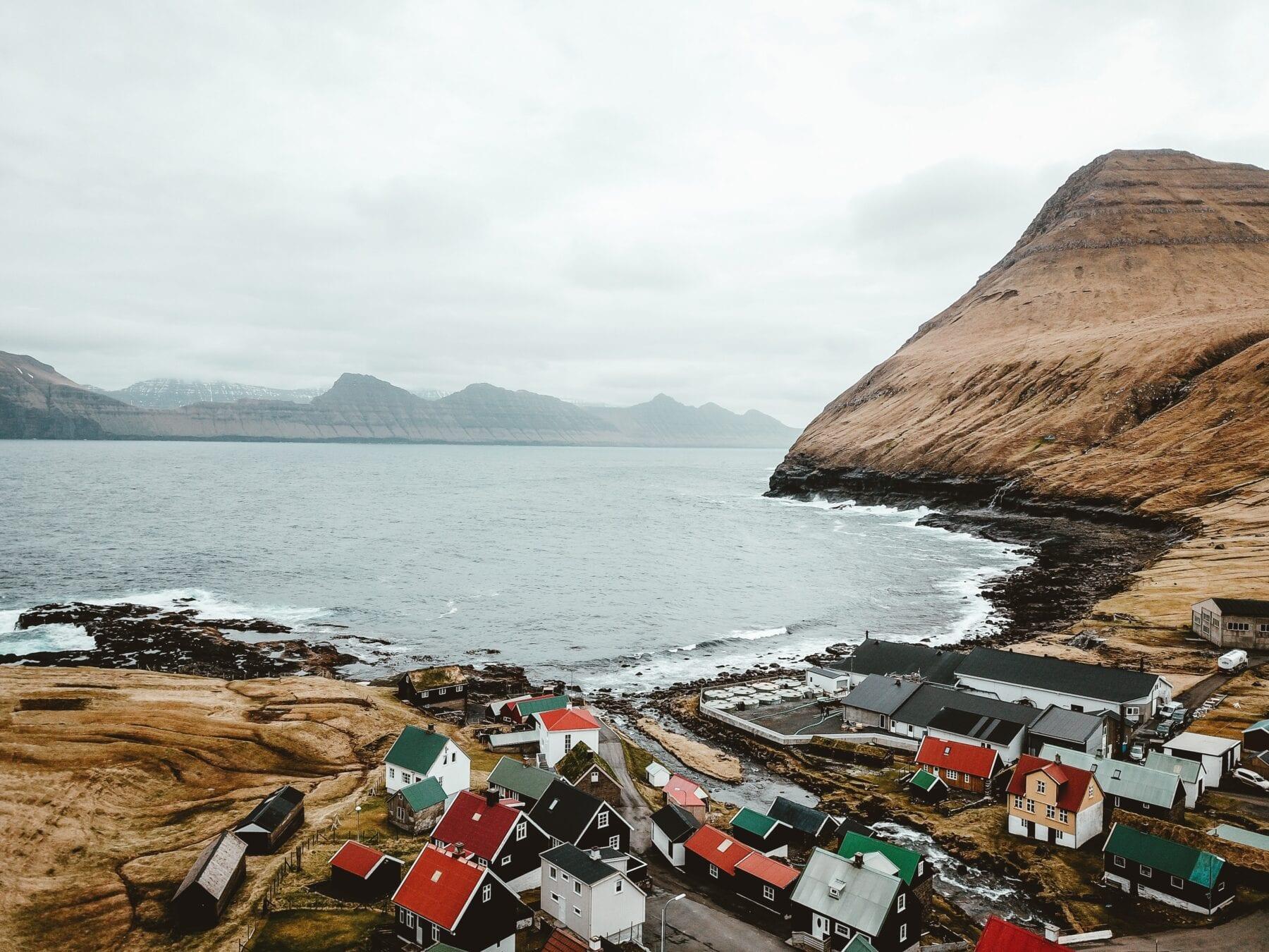 Faeröer eilanden dorpje