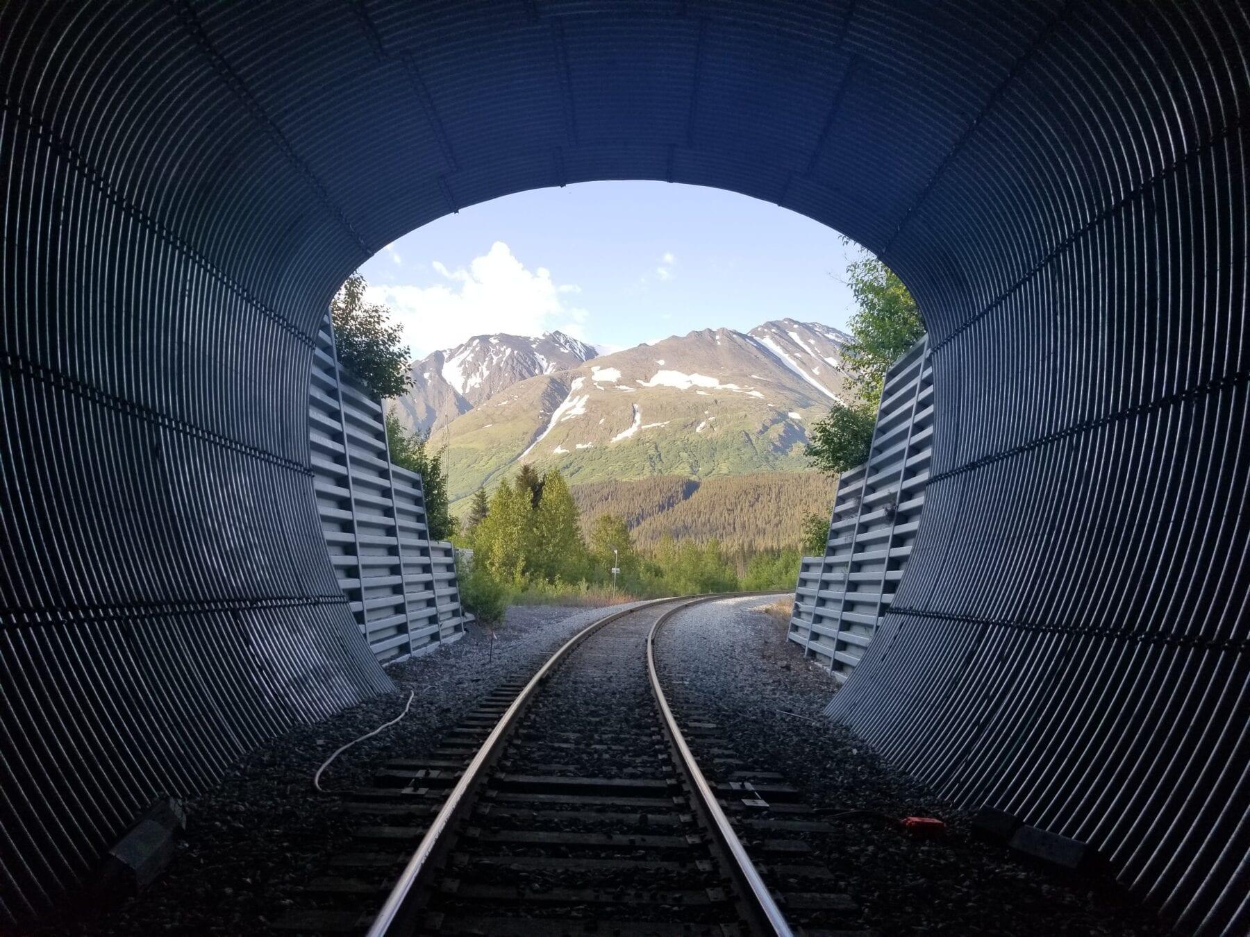 foto's alaska tunnel