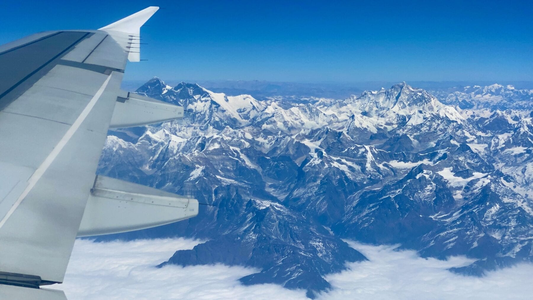 Mount Everest luchtfoto