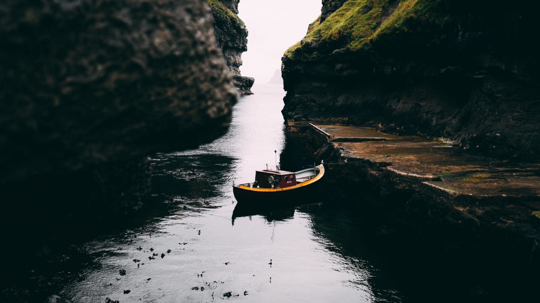 faeröer eilanden bootje
