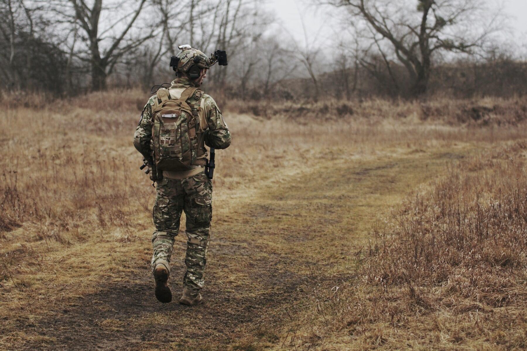 verboden toegang natuurgebied bord militair oefenterrein
