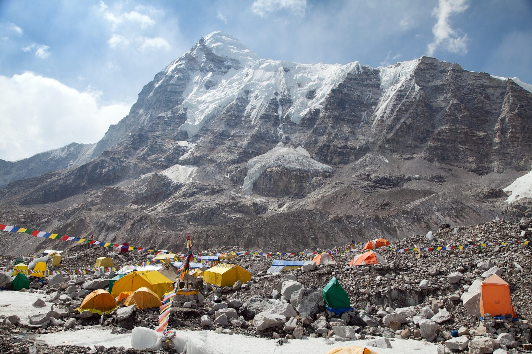 Mount Everest Base Camp uitzicht