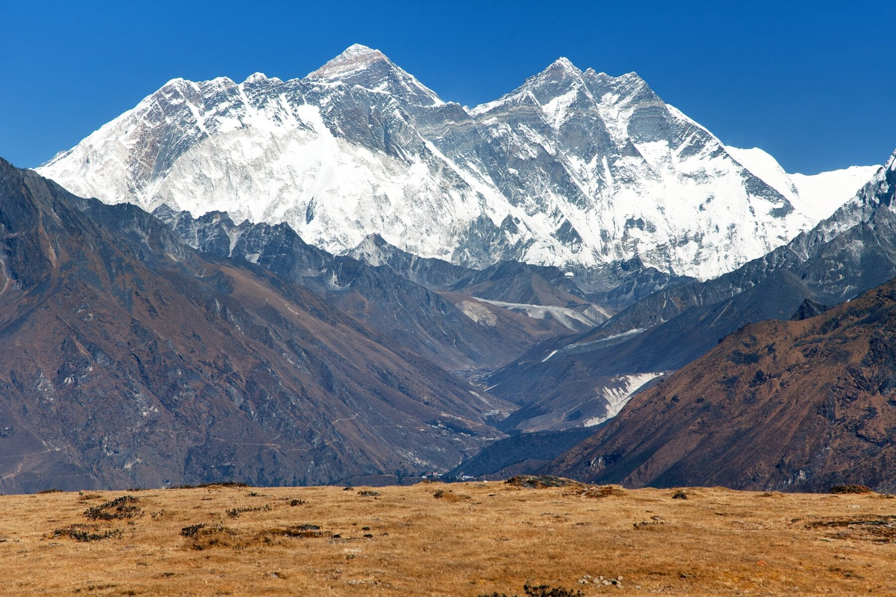 Mount Everest, Nuptse en Lhotse