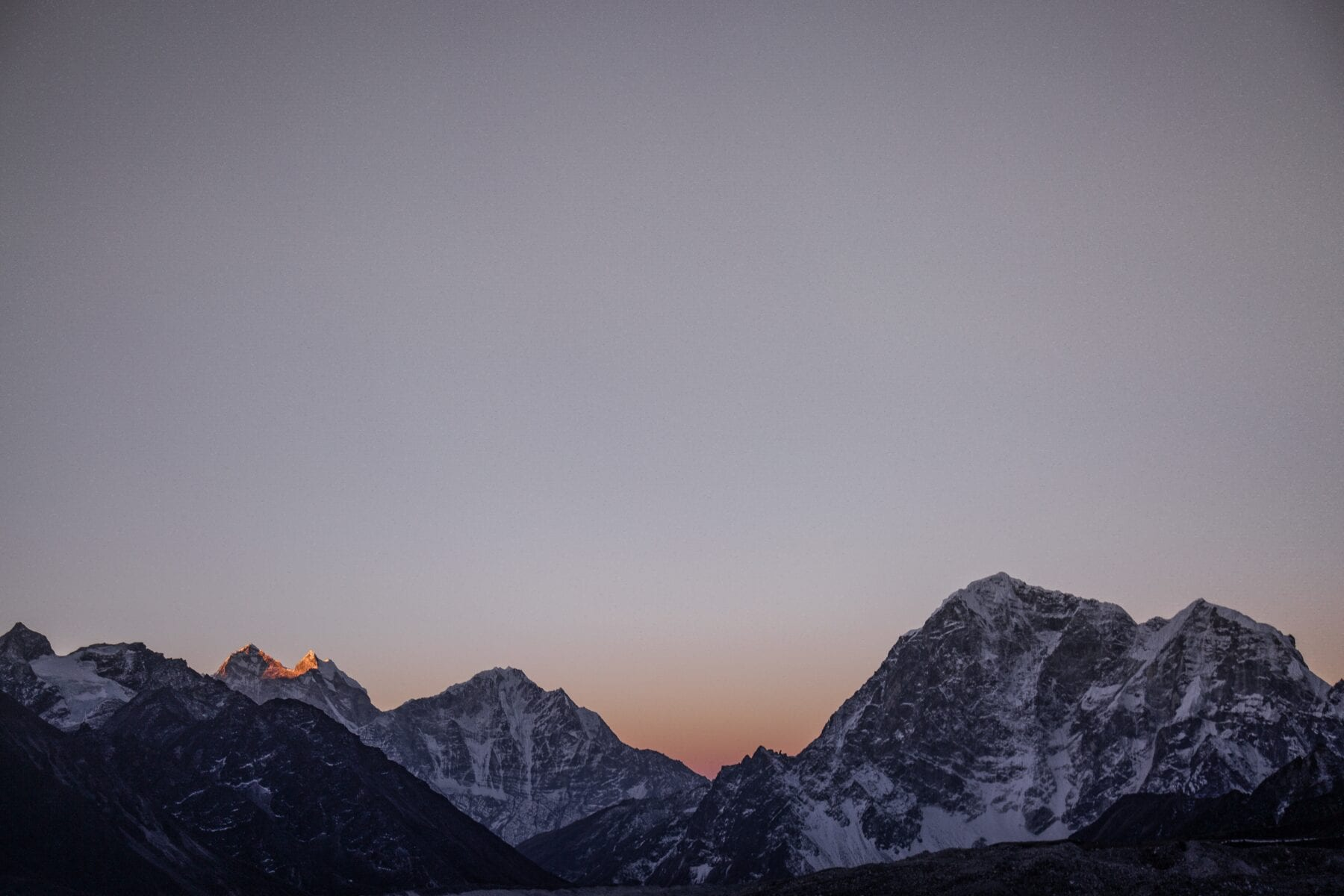Mount Everest zonsondergang