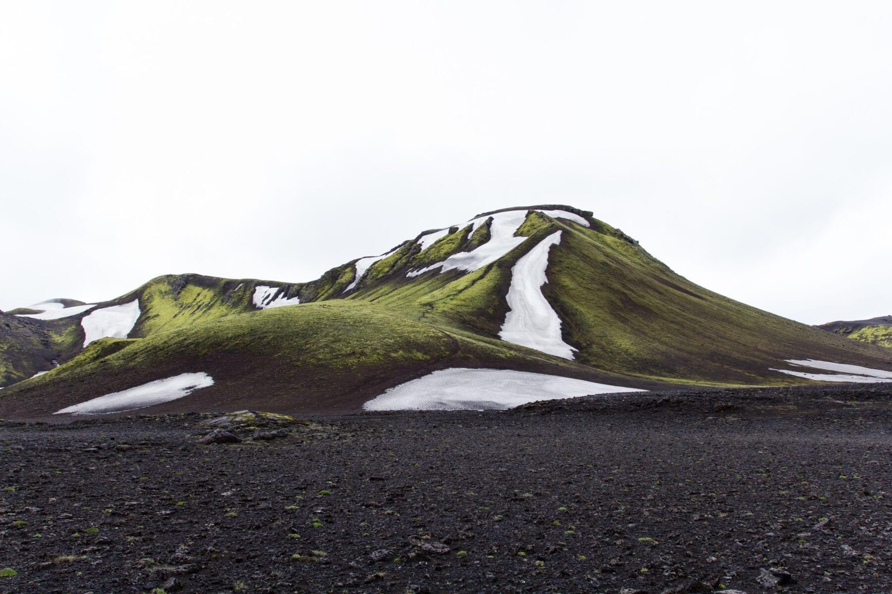 IJsland landshap berg