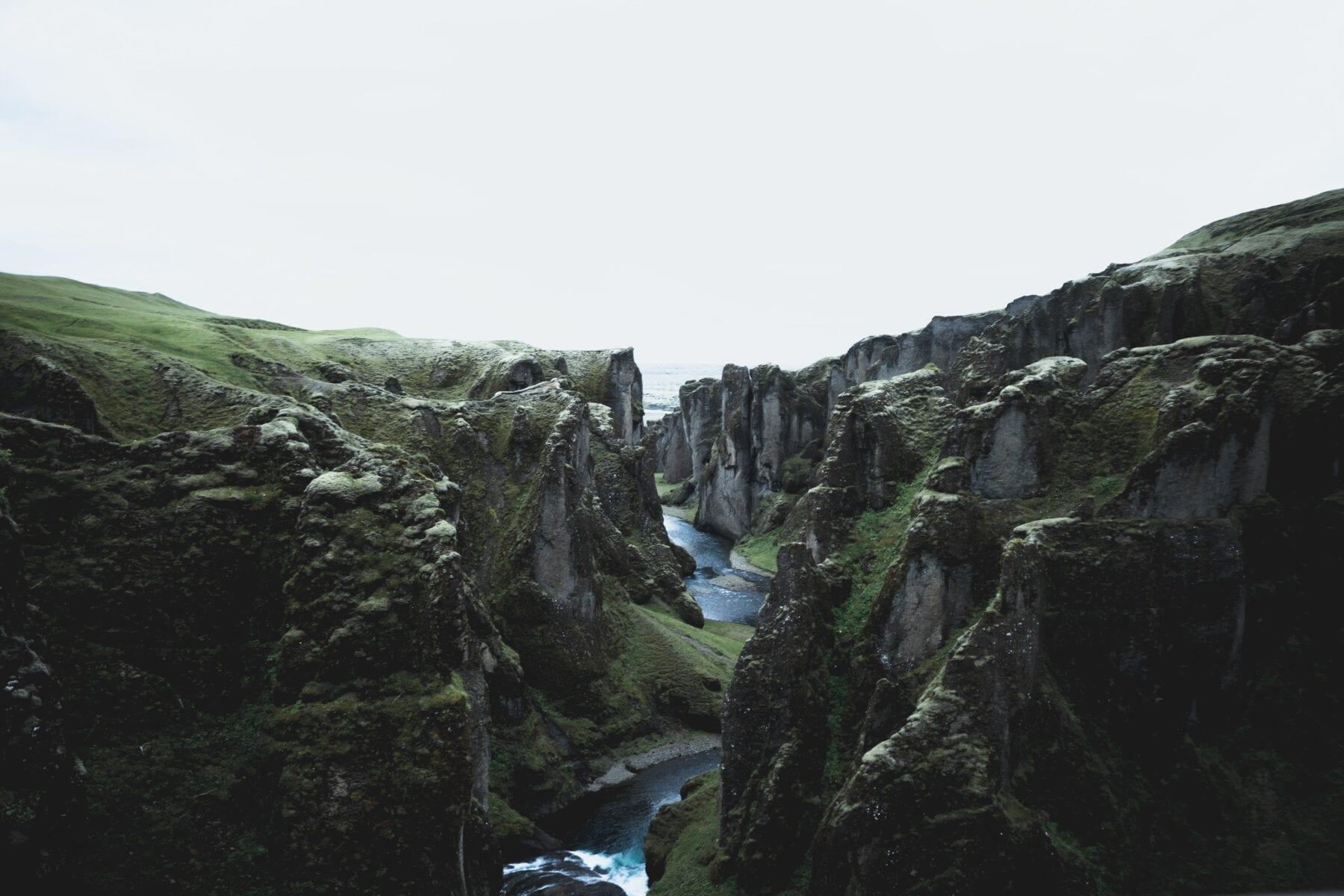 IJsland landshap kloven