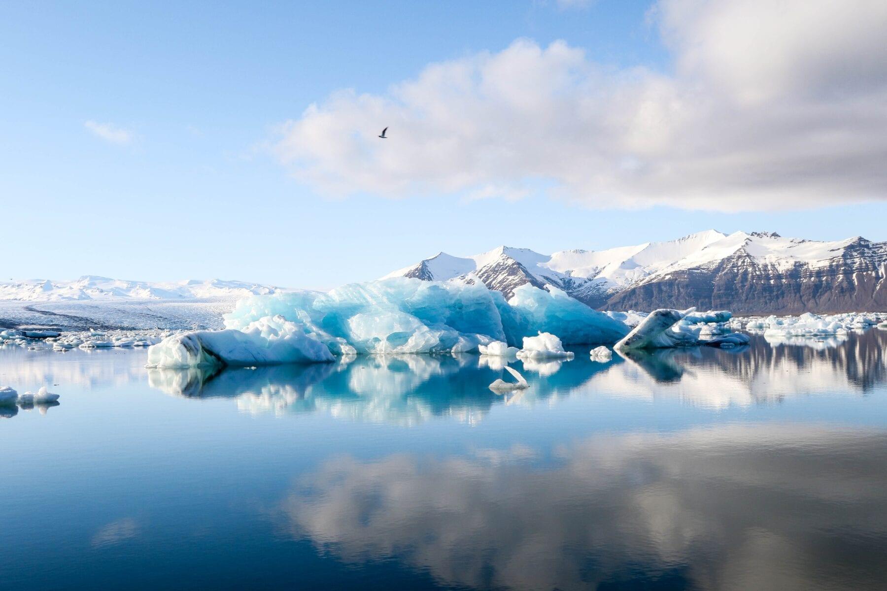 IJsland landshap gletsjer